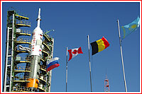 Soyuz TMA-15 flags