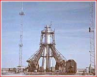 Sputnik-2 on launch pad